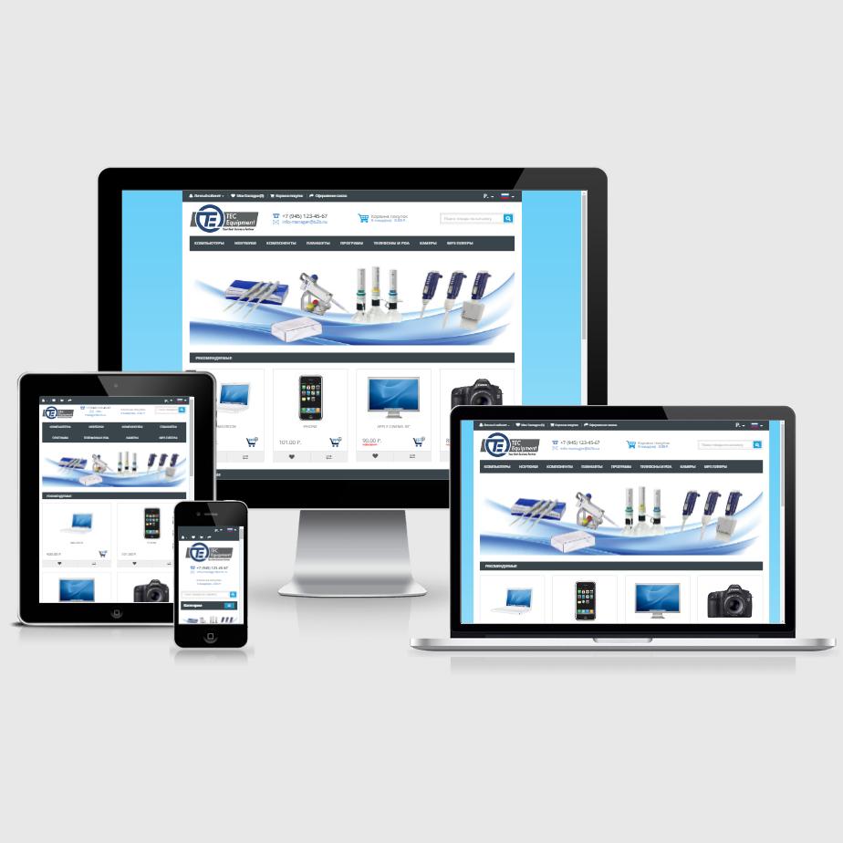 Шаблон сайта продажи оборудования B2Bv2 - Opencart 2.x