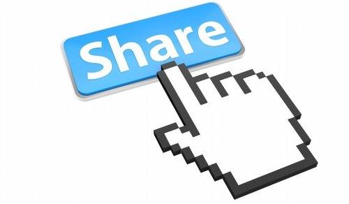 Кнопка поделиться в социальных сетях