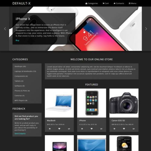 DEFAULT-X Тема - Черная - Флюент дизайн