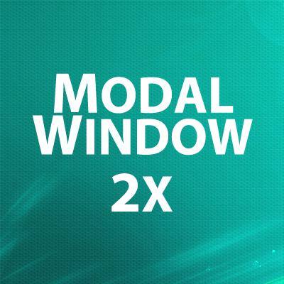 Modal Window 2x - всплывающие окна с информацией / подтверждением