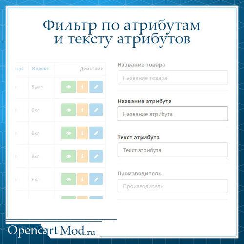 Фильтр по атрибутам и тексту атрибутов в админке