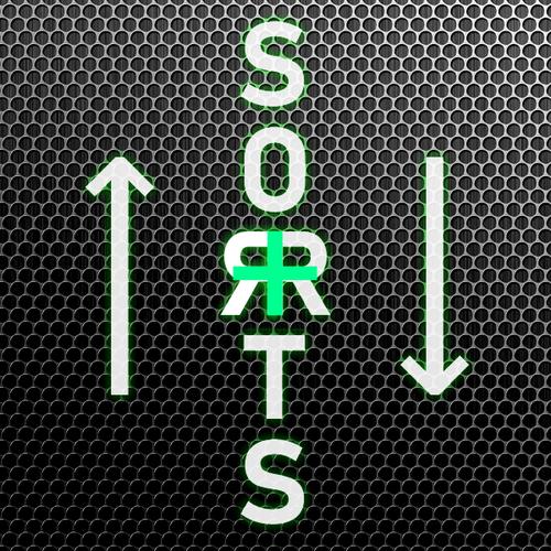 """↑↓ SORTS + : Настройка сортировок, скрытие """"не в наличии"""" (или в конец списка)"""
